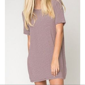 Brandy Melville | Striped Oversized T-Shirt Dress